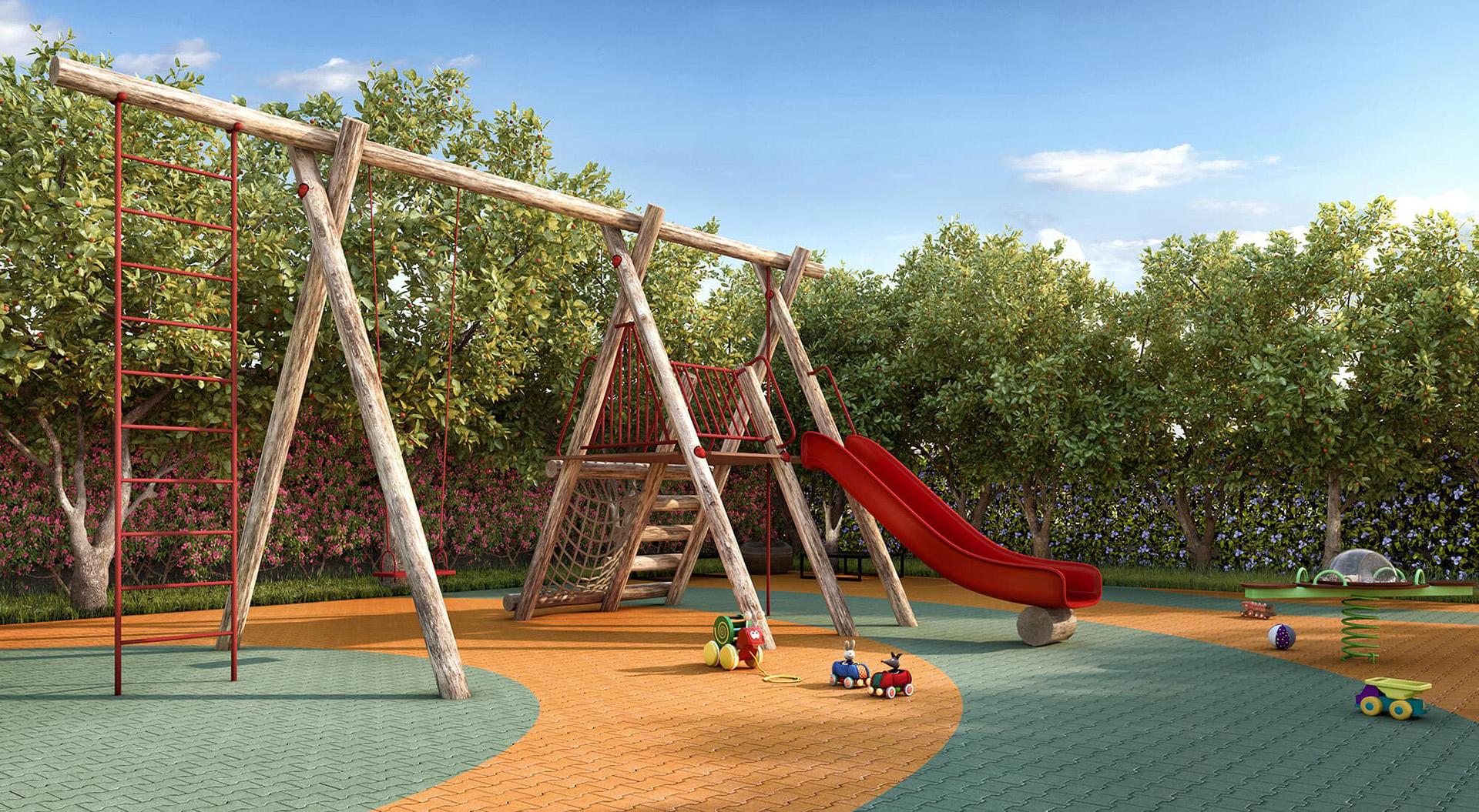 Perspectiva Ilustrada da Playground Atria Alphaville