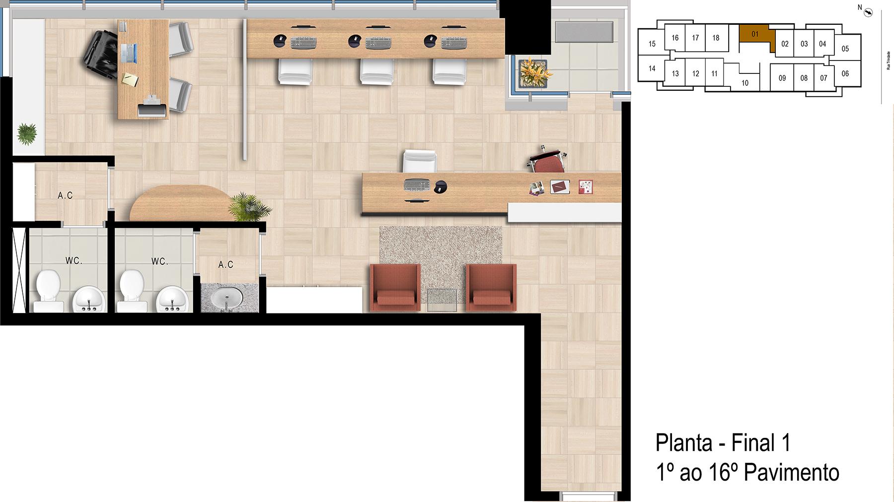 Final 1 - 1° ao 16° Pavimento Office Bethaville