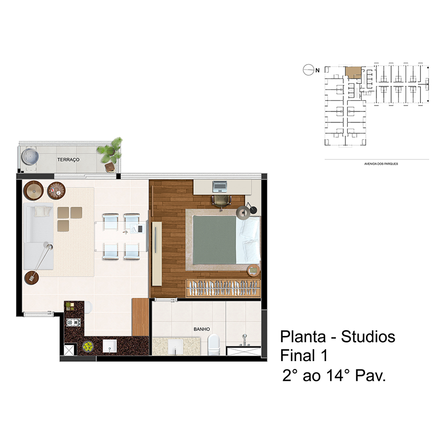 Planta - Studios - Final 1 - 2° ao 14° Pav Link Studios & Offices
