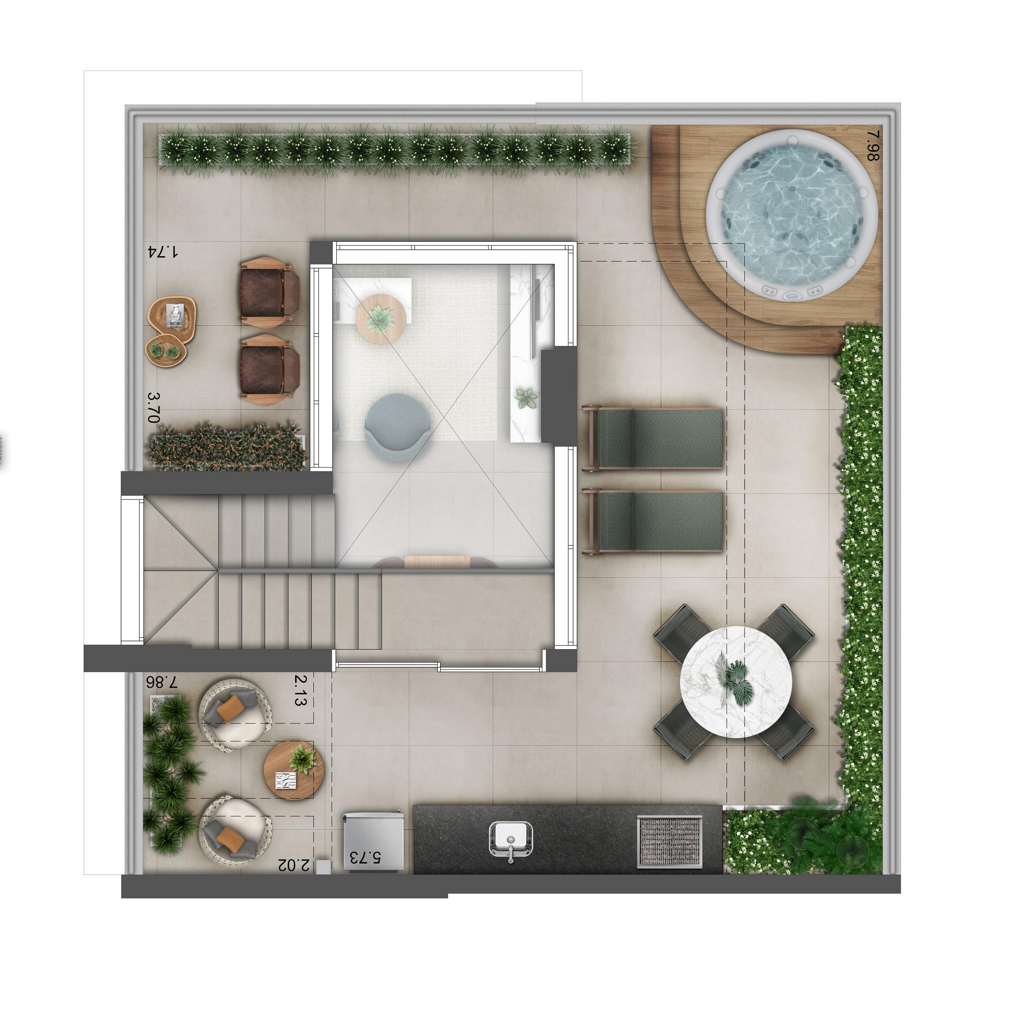 Duplex 125m² - Pavimento Superior Hera Perdizes