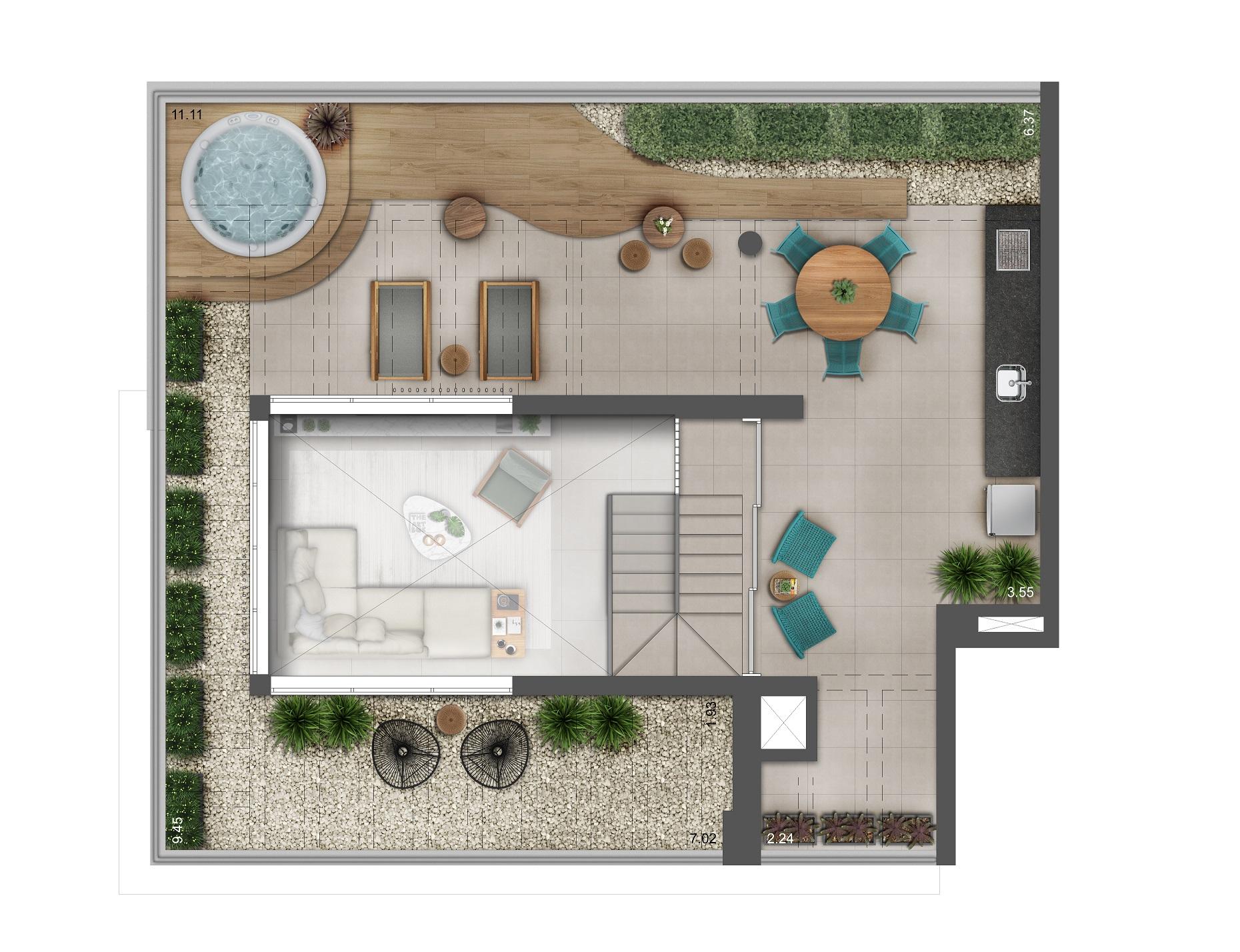 Duplex 202m² - Pavimento Superior Hera Perdizes