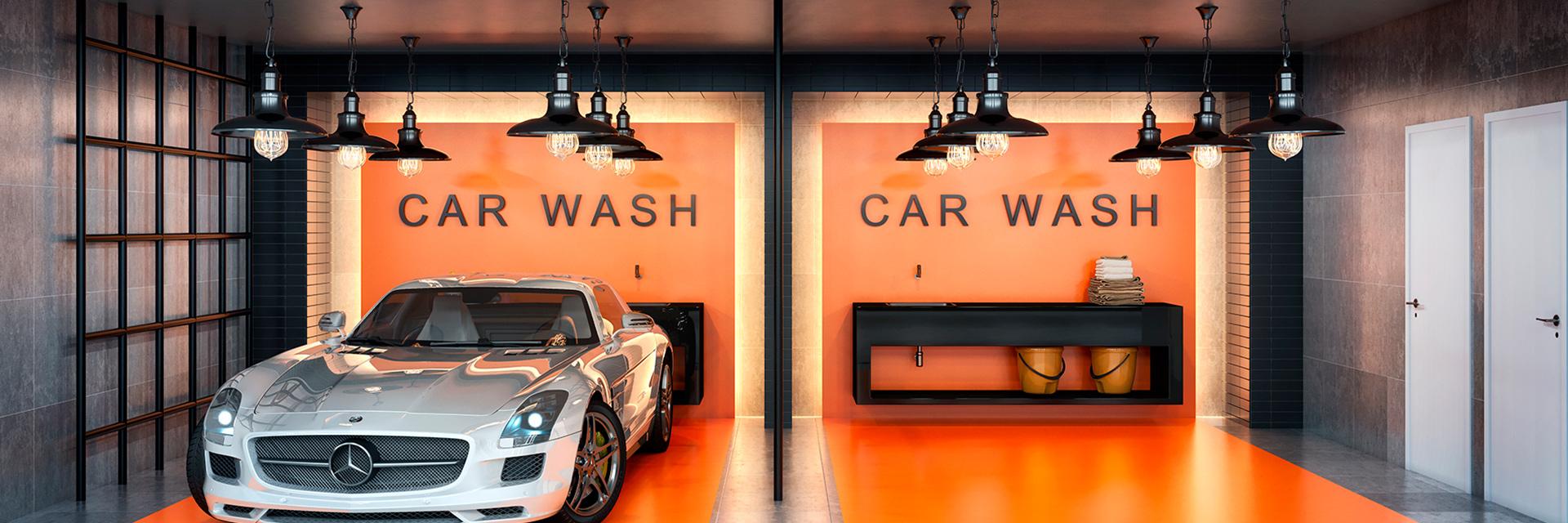 Perspectiva Ilustrada do Car Wash